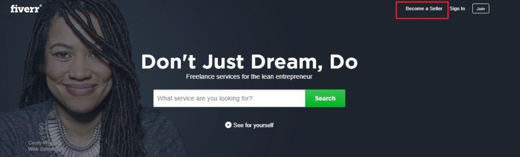how to create a profile on fiverr to start making money online
