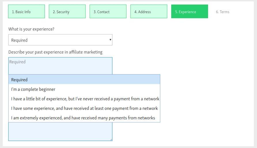comment compléter l'expérience d'un formulaire de demande maxbounty en tant que distributeur affilié